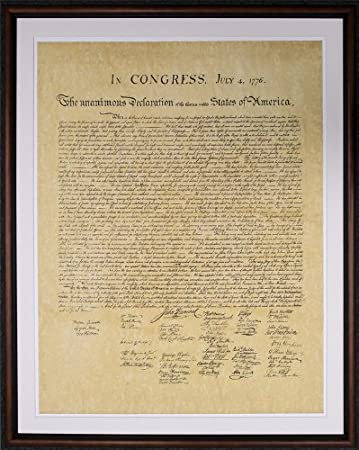 Amazon.com: The Declaration of Independence. High Quality Replica of ...
