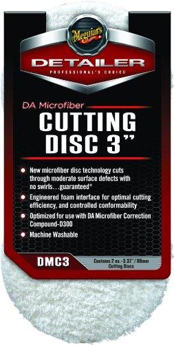 "Meguiar's 3"" DA Microfiber Cutting Disc ? Microfiber Pad for Paint Correction ? DMC3, Pack of 2"