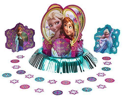 Disney Frozen Party Table Decorations Kit ( Centerpiece Kit ) 23 PCS - Kids Birthday and Party Supplies Decoration -