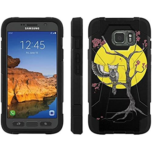 AT&T [Galaxy S7 Active] ShockProof Case [ArmorXtreme] [Black/Black] Hybrid Defender [Kickstand] - [MidNight Owl] for Samsung Galaxy [S7 Active] Sales