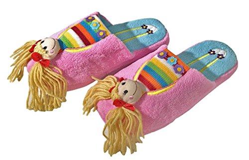 Ameta Cosy And Plush Doll Character Zapatillas De Casa Bubble Gum Pink