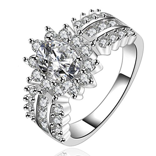Women Girls Ring, Fashion Crystal Ring for Valentine's Day Gift By Litetao, Promise Eternity Ring Engagement Wedding Anniversary Band Her (B-8)