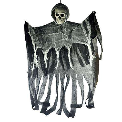 Facaily Skull Halloween Hanging Ghost Haunted House Grim Reaper Horror Props Home Door Bar Club -