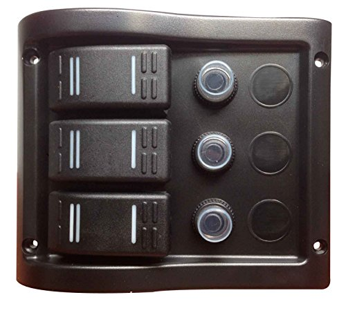 Pactrade Marine Boat 3 Gang Splash Proof Switch Panel ODM Circuit Breaker with - Proof Switch Panel