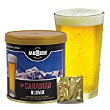 Mr. Beer Canadian Blonde 2 Gallon Homebrewing Craft Beer Making Refill Kit with Sanitizer, Yeast and All Grain Brewing Extract Comprised of the Highest Quality Barley and Hops