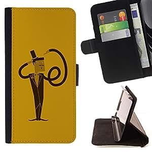 Momo Phone Case / Flip Funda de Cuero Case Cover - Hombre divertido espiral flexible - HTC One Mini 2 M8 MINI