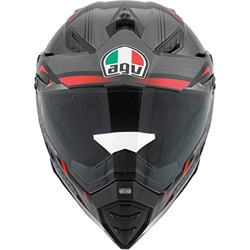 AGV AX-8 Dual Sport Evo Helmet Composite Fiber GT Gloss Black/Red/Silver Medium by AGV (Image #1)