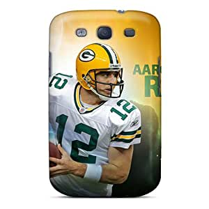 High Quality Shock Absorbing Case For Galaxy S3-green Bay Packers