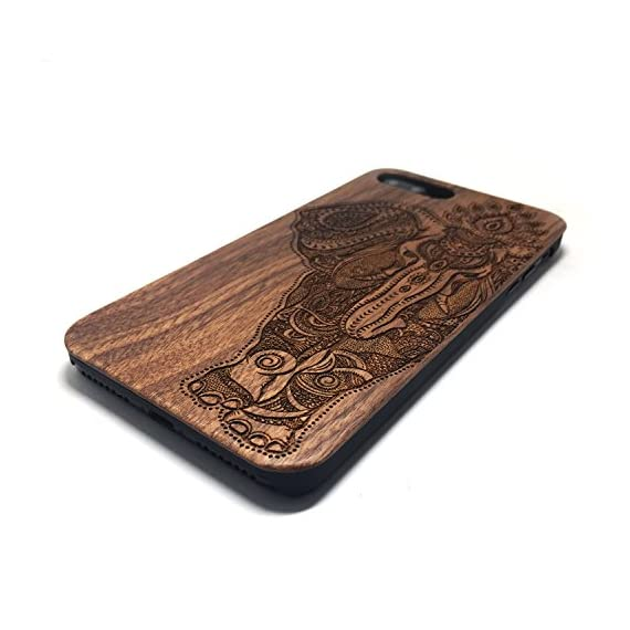 iPhone 7 PLUS Case,BTHEONE Real Natural Wood Cover for iPhone 7 PLUS Unique Handmade Cute Protective iPhone 7 PLUS Case (5.5 Inch) (Walnut-Elephant) 3 √ Compatible with iPhone 7 (Not for iPhone7 Plus) √ Naturally wood different,each wood back has a unique grain and texture. √ Specially designed for iPhone 7, has precise design for speakers, charging ports, audio ports and buttons.