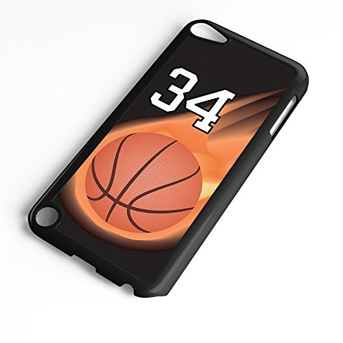iPod Touch Case Fits 6th Generation or 5th Generation Basketball #3500 Choose Any Player Jersey Number 34 in Black Plastic Customizable by TYD Designs
