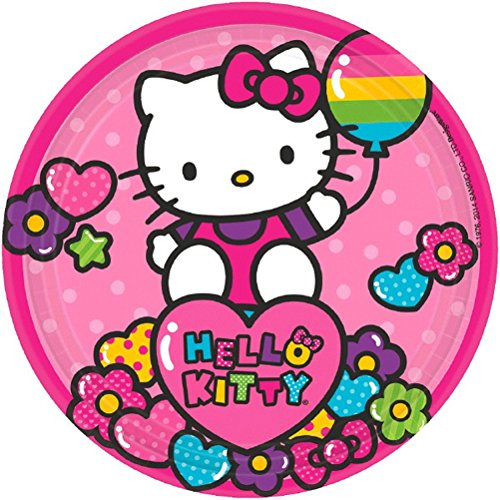 (Amscan Hello Kitty Rainbow Dessert Plates (8))