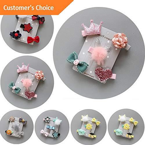 Werrox 5Pcs/set Kids Infant Hairpin Baby Girl Hair Clip Bow Flower Mini Barrettes Gift | Model HRPN - 3956 |