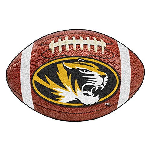 FANMATS NCAA University of Missouri Tigers Nylon Face Football Rug