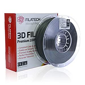Filatech PLA Filament, Dark Metallic Grey, 1.75mm, 1kg, Made in UAE