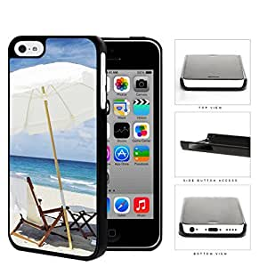 Beach Chair And Umbrella Hard Plastic Snap On Cell Phone Case Apple iPhone 5c