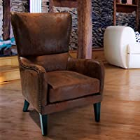 Christopher Knight Home 230476 Lorenzo Club Chair, Brown