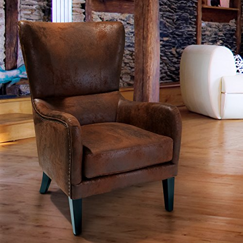 (Christopher Knight Home 230476 Lorenzo Club Chair, Brown)