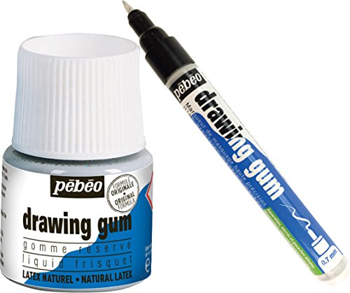Drawing Gum 45ml Bottle & Pebeo 0.7mm Drawing Gum Pen Bundle