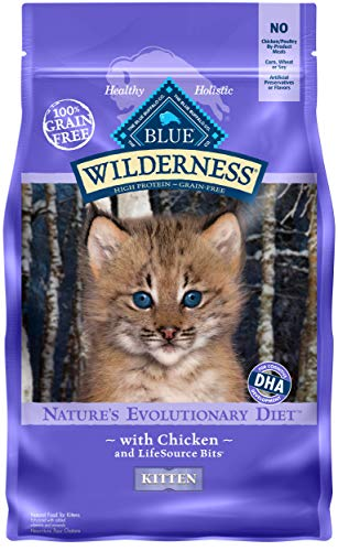 Blue Buffalo Wilderness High Protein Grain Free, Natural Kitten Dry Cat Food, Chicken 5-lb (Best Natural Kitten Food)