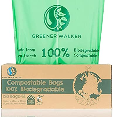 Greener Walker 25% Extra Gruesa compost Biodegradable 6L/10L/30L ...