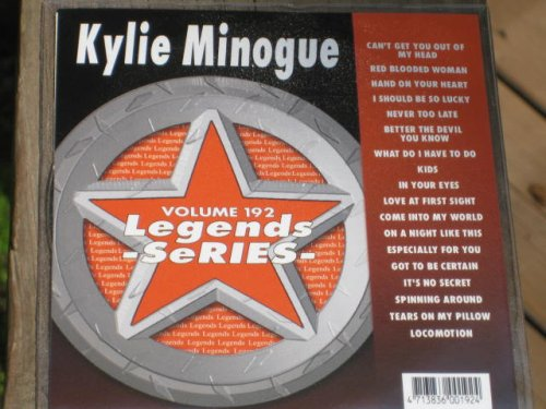 LEGENDS Karaoke CDG Vol.192 Choice Hits of KYLIE MINOQUE: Various ...