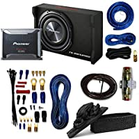 Pioneer Packages Pioneer GM-D8601 1600W Monoblock Class-D Car Amplifier with Pioneer TS-SWX2502 subwoofer and 4 Gauge Amp Kit