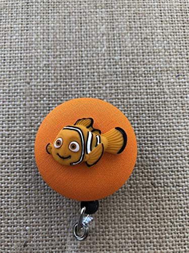 Finding Nemo Nurse ID Badge Reel, Badge Clip - Your Character Choice -