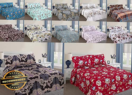 Werrox Reversible Solid Printed Quilt Bedding Bedspread Coverlet Pillow Cases Set 2/3PC Queen Size   Quilt Style QLTR-291267212