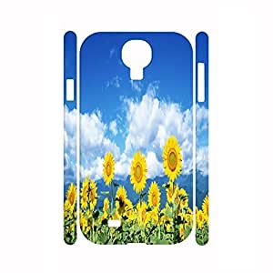 Customized Romantic Scenery Collection Sunflower Graphic Vintage Hard Plastic Phonce Cover For Samsung Galaxy S4 I9500 WANGJING JINDA