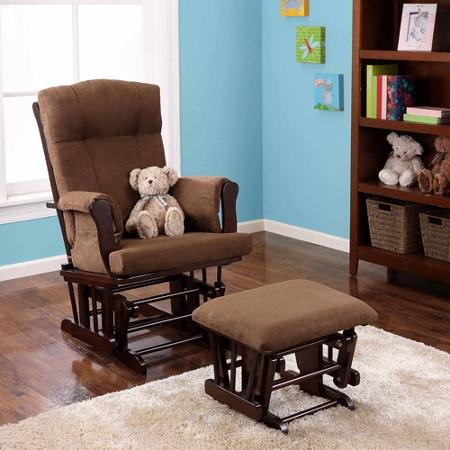 Patio Chairs Baby Adjustable Glider Rocker and Ottoman, Espresso for Home Discount Kid Safe Low Price Lights Comfortable Affordable Best Relax and Enjoy Decorative Beautiful Perfect Conservatories Design (Patio Shopper)