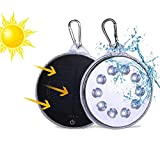 Solar Lights Outdoor, Camping Light, LED Solar Lights, Magnetic Solar-Powered White LED Light Waterproof IP67 Protable Spotlight Hands Free with USB Charging for Home Outdoor Garden Garage Yard