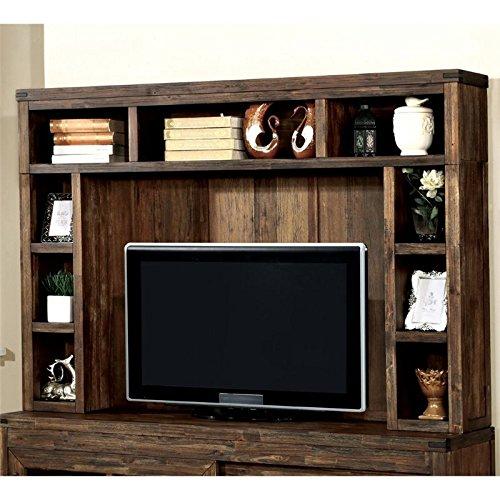 Furniture of America Otha TV Hutch in Oak