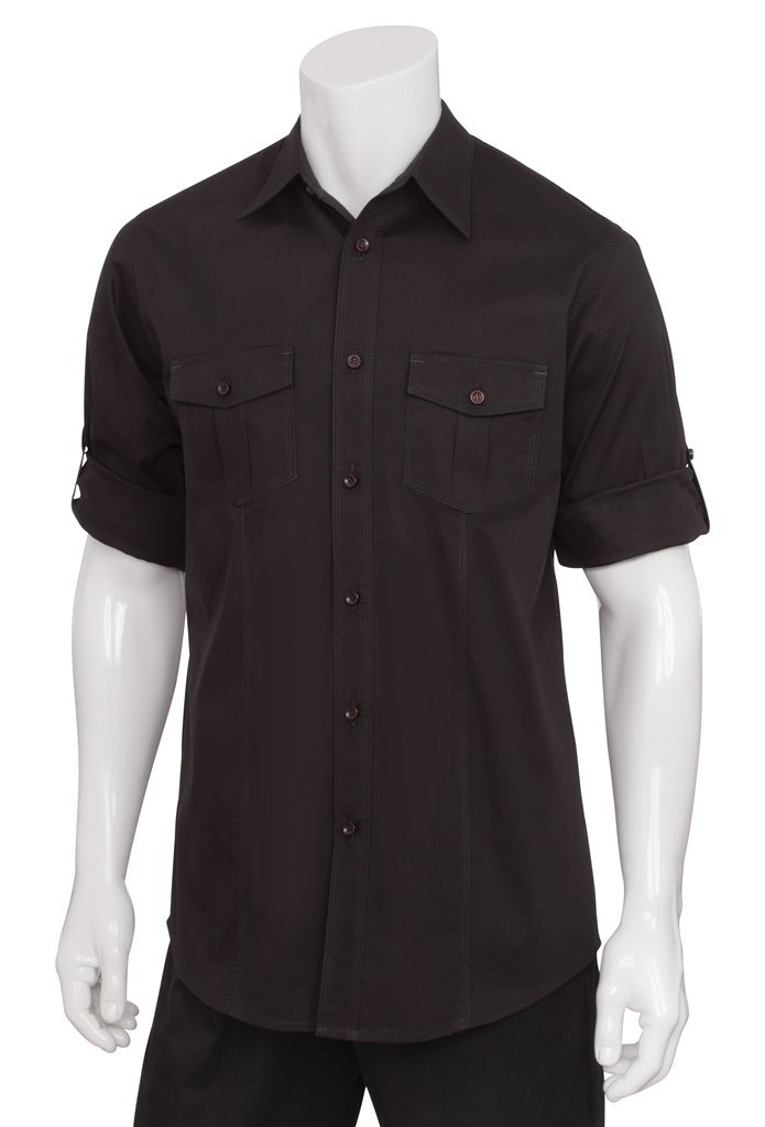 Chef Works Men's Two Pocket Shirt (DPDS)