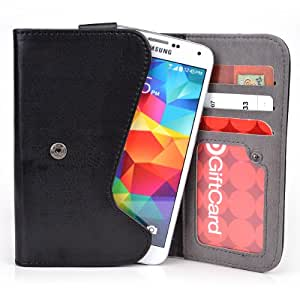 5 Inch Phone Wallet Case with Belt Loop and Credit Card Slots fits Samsung Galaxy Rugby Pro I547
