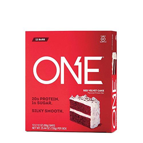 ONE Protein Bar, Red Velvet Cake, 20g Protein, 1g Sugar, 12-Pack