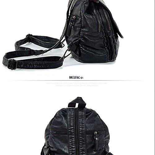 Das neue Dual Schultertasche Buchse Sleek und vielseitig weichen Tasche college-student eindringens Paket, der Standard schwarz