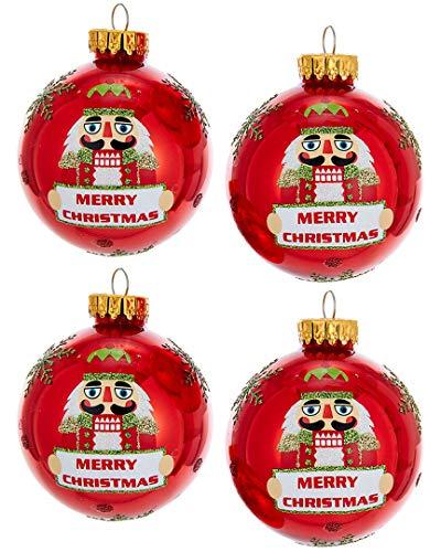 - Kurt Adler Nutcracker Glass Ball Ornament Box Set, 4 Piece