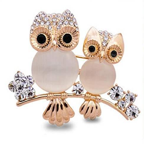 Daisy Jewelry Mother Child Womens Owl Vintage Good Luck Brooches and Pins Rhinestone Cute Animal Brooches