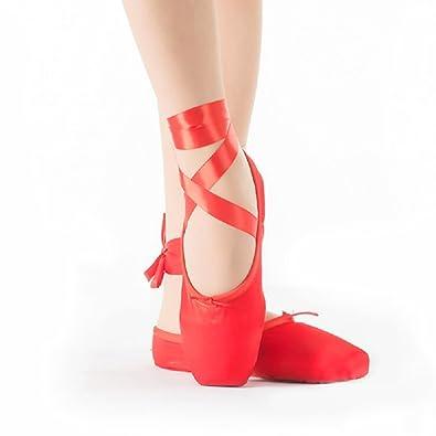 Zapatillas de ballet rosas de Skyrocket, rojo, 38,5: Amazon.es: Deportes y aire libre