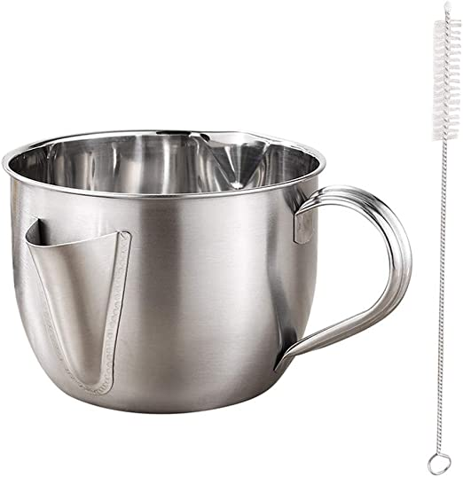 1 pc Oil Soup Separator Stainless Steel Grease Filter Gravy Strainer for Home