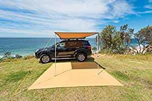 Adventure Kings Premium 4wd Side Awning - 2.5 x 2.5m Outdoor Camping Rack Shade