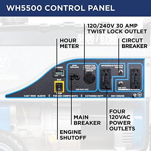 Generators Westinghouse Wh5500 Portable Generator 5500