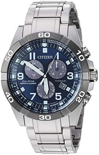 Citizen Men's Eco-Drive Quartz Titanium Strap, Silver, 21 Casual Watch (Model: BL5558-58L)