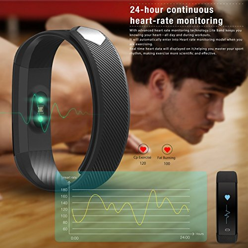 Fitness Tracker, Weton Bluetooth4.0 Waterproof Smart Bracelet Watch with Heart Rate Monitor Touch Screen Wristband Sport Activity Tracker Pedometer Sleep Monitor Calorie Counter for Android & iPhone