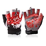 Panegy Men Women Red Half Finger Cycling/Riding/Gym Gloves - Best Reviews Guide