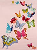 Momeni Rugs LMOJULMJ32PNK2030 Lil' Mo Whimsy Collection Kids Themed Hand Carved & Tufted Area Rug, 2′ x 3′, Pink Review