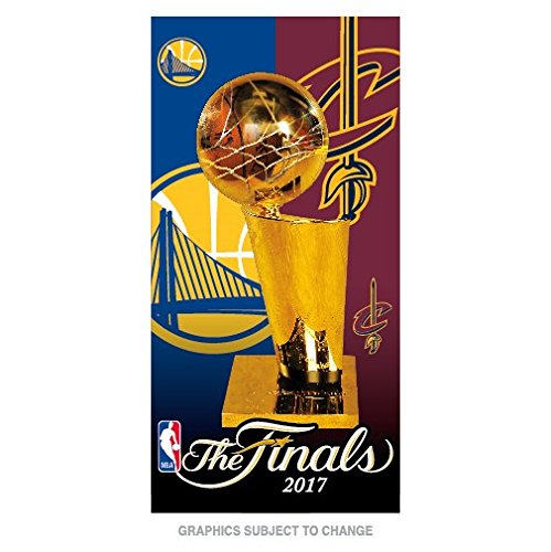 WinCraft Cleveland Cavaliers Vs. Golden State Warriors NBA 2017 Finals Dueling Beach Towel 30'' x 60'' by WinCraft