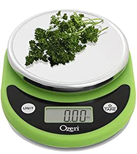 Ozeri ZK14-L Pronto Digital Multifunction Kitchen and Food Scale, Lime Green