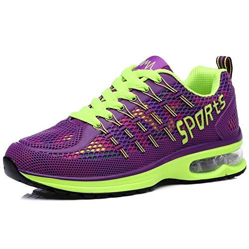 Womens Mesh Air Max Sports Shoes Tennis Jogging Walking Fashion Sneakers Shoes Running Shoes (8.5 B(M) US, Purple)