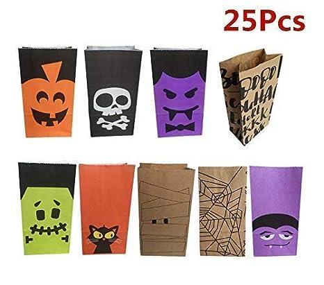 Bolsas de papel para dulces de Halloween, de sarga, para ...